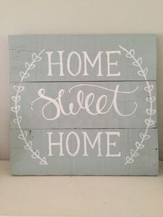 Home Sweet Home Sign ~ Reclaimed Wood Pallet Sign, Rustic Hand Painted Sign, Rustic Home Decor. Cheaper to make it yourself fun wood projects Pallet Projects Signs, Wood Pallet Signs, Pallet Crafts, Pallet Art, Wood Pallets, Wooden Signs, Wood Projects, Etsy Wood Signs, Painted Pallets