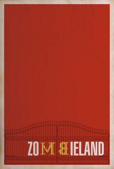 Zombieland Minimalist Poster by Matt Owen