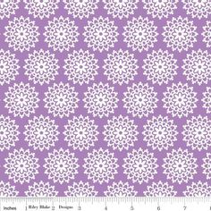 Lovey Dovey by Riley Blake Designs - Lovey Lace Purple #RileyBlakeDesigns