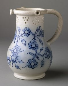 Puzzle jug. Probably Staffordshire, England; 1745–70. Stoneware (scratch-blue) Bequest of Henry Francis du Pont 1958.929
