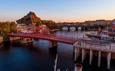 Set of sunrise photos from Tokyo DisneySea!