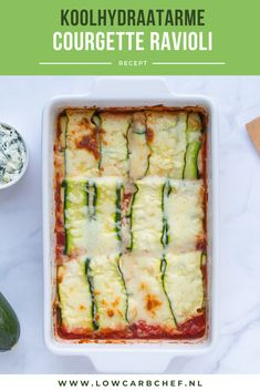 Courgette ravioli met spinazie This zucchini ravioli filled with spinach and ricotta is tasty, nutri Healthy Recepies, Super Healthy Recipes, Raw Food Recipes, Low Carb Recipes, Vegetarian Recipes, Eat Smarter, Ricotta, Food Inspiration, Love Food
