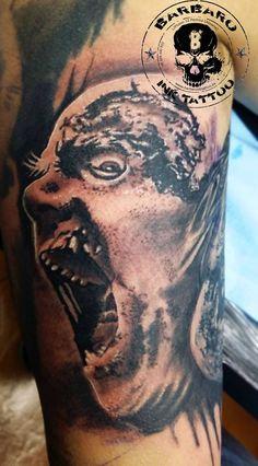 #tattoo #tattooist #tattoolife #tattooartist #tattoofreakz #tattoolifemag #tattooistartmag #tattooed_body_art #tattooistartmagazine #thebesttattooartists #thebestpaintattooartists #blackandgrey #blackandgreytattoo #blackandgreytattoos #inkedmag #inkfreakz #crazytattoos  #tattooalmeria #tattooed  #terrortattoo #thewalkingdead #deadisland #zombietattoo