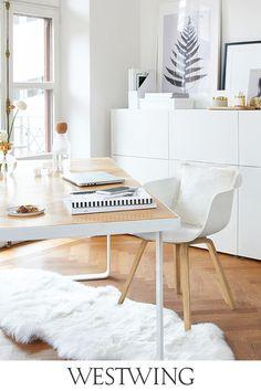 Home Office ♥ online kopen Co Working, Office Decor, Interior Design, Chair, Table, Room, Furniture, Home Decor, Desks