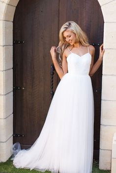 Made With Love's Jayne Wedding Dress with a lacey, beaded bodice and tulle skirt