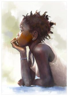 Pin by *lois o* on *the arts* art, black women art, african american art. Black Girl Art, Black Women Art, Art Girl, African American Art, African Art, African Prints, African Women, Natural Hair Art, Natural Hair Styles