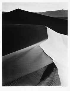 Ansel Adams, Sand Dunes, Sunrise, Death Valley National Monument, California, 1948
