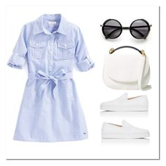 """""""Shirtdress&Sneakers"""" by styleskater7 ❤ liked on Polyvore featuring Christian Louboutin and Cynthia Rowley"""