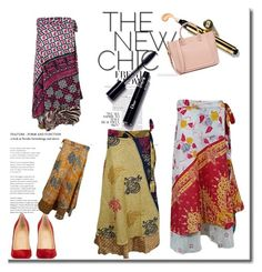 Boho Silk Reversible Wrap Around Skirt by boho-chic-2 on Polyvore featuring Christian Louboutin