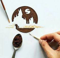 Coffee art by Ghidaq al-Nizar