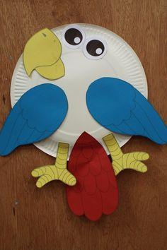 Parrot Paper Plate Craft for Kids - Rainforest Craft Idea   Paper ...