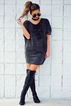 Kelskull Dress: Charcoal #kelseyxhopes #shophopes