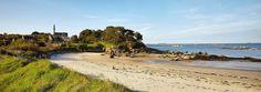 île Callot, accessible à pied à marée basse. #Carantec, #BaiedeMorlaix…
