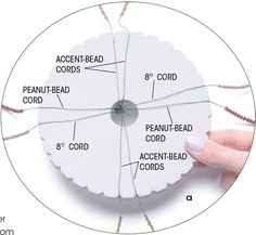 Multi bead kumihimo bracelet Photo a