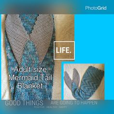 A personal favorite from my Etsy shop https://www.etsy.com/listing/271753736/adult-mermaid-tail-blanket-mermaid-tail