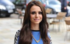 Download wallpapers Cher Lloyd, British singer, smile, portrait, blue dress, photoshoot
