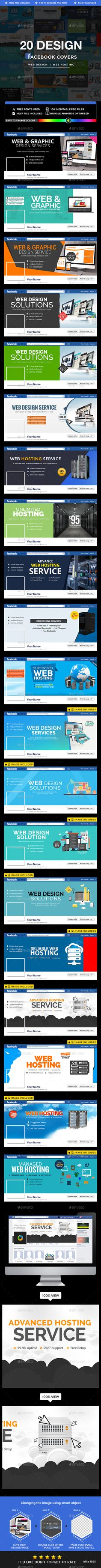 Web Design Hosting Facebook Covers 20 Designs