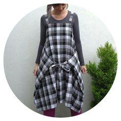 Apron dress aka Jumper Skirt Apron - No. 5 from Yoshiko Tsukiori's excellent Straight Stitch Apron Dress book