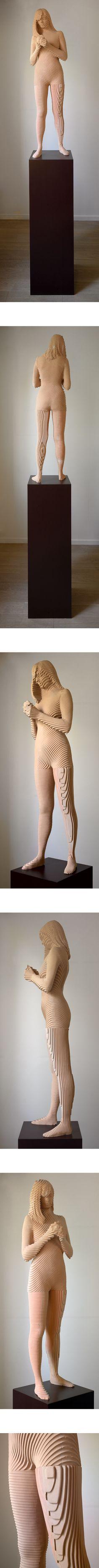 Debora by Xavier Veilhan Xavier Veilhan, Plywood Shelves, Art 3d, Wood Sculpture, Geometric Art, Art And Architecture, Installation Art, Wood Carving, Wood Art