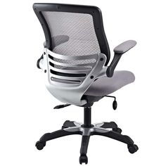 Edge Mesh Office Chair, Gray - Welcome to a new era in functional comfort. The Edge office chair combines old time charm with cutting edge ergonomics to deliver one comprehensive seating experience. Every feature imaginable in a chair is available as soon as you sit down. This is a chair that you can conform to behave exactly how you need it.  The Edge Office Chair – giving you the comfort you need when you need it most. Set Includes: One - Edge Office Chair with Mesh Fabric Seat. Material…