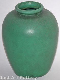 Teco Pottery Matte Green Vase (Shape 200) from Just Art Pottery