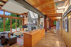 [A3N]: Beautiful house of wood, stone and steel on Bainbridge Island