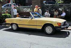 1980 Mercedes-Benz 450SL, yellow