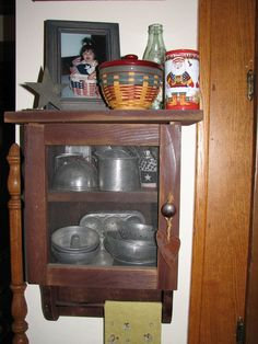 Childhood old dishes stored with love.