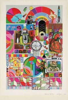 Artwork page for 'Bash', Sir Eduardo Paolozzi, 1971 Jasper Johns, Robert Rauschenberg, Stencil Printing, Screen Printing, Cultura Pop, Andy Warhol, Photomontage, David Hockney, Illustrations