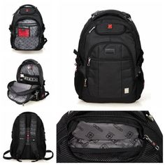 SWISSWIN New Large Laptop Backpack Business Rucksack Bag Travel For Ipad MacBook