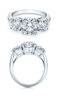 I DO! :D  Tiffany's Round Brilliant Three Stone Engagement Ring