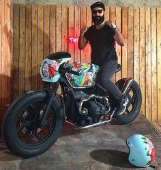 """Mi piace"": 3,615, commenti: 15 - SAINT MOTORS Co.™ ☠️ 19⚡13 (@saint_motors) su Instagram: ""⚒️⚙️ by @tehran_soul_motors #bmw #boxertwin #custom #bike #caferacer #bratstyle #scrambler…"""
