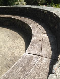 RHS Rosemoor May 2015 Dry stone wall and seating Garden Seats, Dry Stone, Garden Inspiration, Sidewalk, Gardens, Wall, Garden Benches, Walkway, Garden Seating