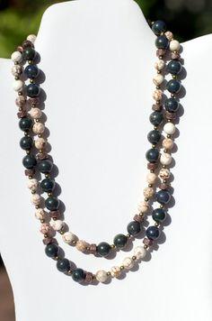 Double Strand Statement Necklace Bracelet Set/ by ALFAdesigns, $89.99