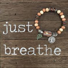 Ahhh, yes! Aromatherapy to stay calm.... just breathe!   Just a drop of essential oil is all you need!