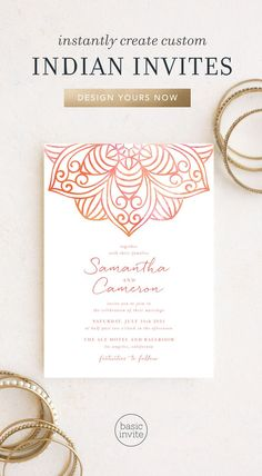 Indian Wedding Invitations - Match Your Color & Style Free! Wedding Invitation Trends, Indian Wedding Invitations, Graduation Party Invitations, Elegant Invitations, Wedding Stationary, Wedding Trends, Invitation Design, Invites, Wedding Ideas