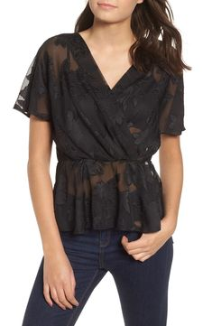 new product 9f2c4 275b4 Free shipping and returns on WAYF Dean Mesh Lace Top at Nordstrom.com.  Floral