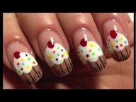 Nail Art Design Tutorial sweet cupcake - simple