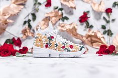 18b6a6c309717 KITH Long Live the King Collection Chapter 2 LeBron James Ronnie Fieg Nike  Basketball 15 xv sneakers black floral flower embroidery embroider white  green ...