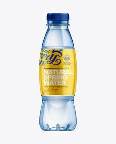 500ml Plastic Water Bottle Mockup. Preview (Juice Bottle Display)