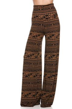 Gorgeous Brown TRIBAL yoga pants great design..  large and XL... fabulous fit