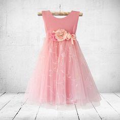 Jasmine dress in pink. Flower-girl, christening or party dress. Little Miss Octavia May, Little Miss Dress, Jasmine Dress, Girl Christening, Special Occasion Dresses, Party Dress, Flower Girl Dresses, Wedding Dresses, Pink