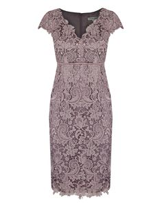 Blush Guipure Lace Dress