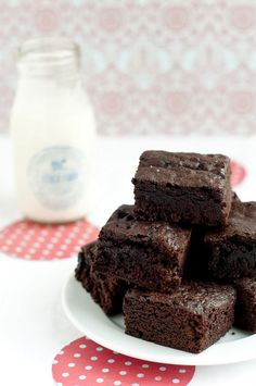 Salted Black Cocoa Brownies
