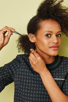 Naturally Gorgeous Spring Hair #refinery29  http://www.refinery29.com/african-american-hair-guide#slide10  Secure the bottom section of hair into a side ponytail, pulling it as tight as possible.