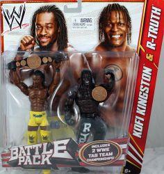KOFI KINGSTON & R-TRUTH - WWE BATTLE PACKS 20 WWE TOY WRESTLING ACTION…