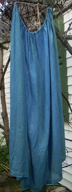 1800s Antique Blue Calico Apron 24in Selvage Long Early Cadet Beautiful Vintage | eBay