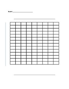 Blank coordinate grid 0 to 10, first quadrant only