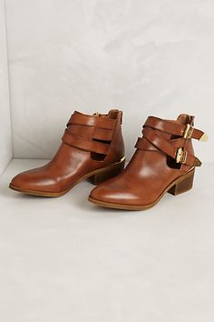 Cross-Buckle Booties #anthropologie
