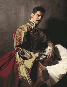 Greek costume of 19th century History Museum, Art History, Ancient Greek Costumes, Mediterranean People, Greek Culture, Folk Costume, Artist At Work, Traditional Outfits, Revolution